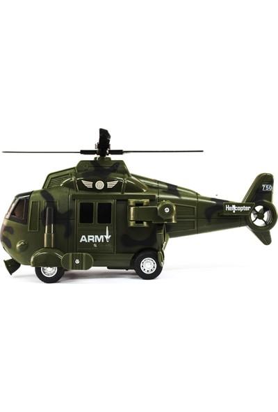 Toys Oyuncak Askeri Helikopter Işıklı Müzikli 32 cm Büyük Boy