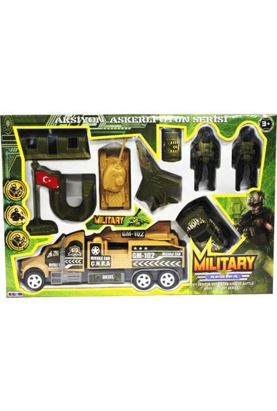 Toys Oyuncak Asker Seti 10 Parça Asker Tırı İle Birlikte Kutulu