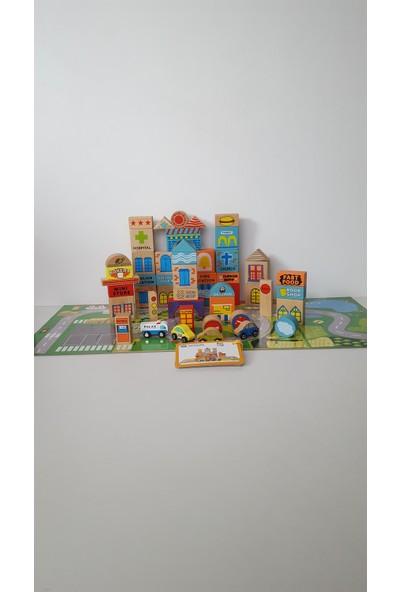 Oyuncak Dünyanız Ahşap Tiny Town Şehir Bloklar
