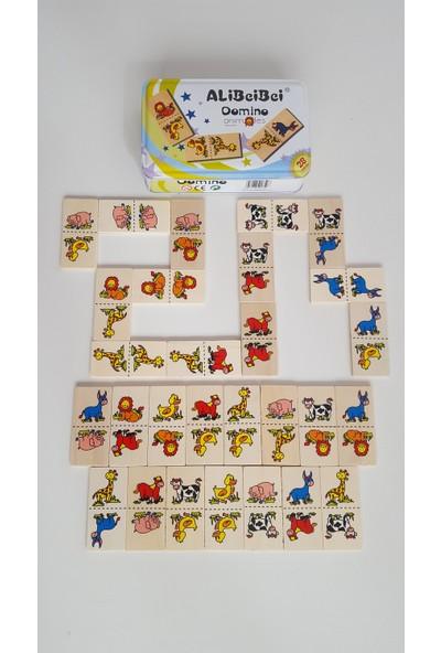 Oyuncak Dünyanız Ahşap Domino Teneke Kutulu