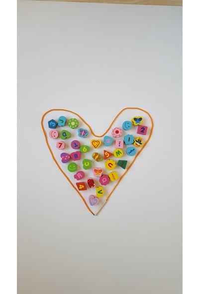Oyuncak Dünyanız Ahşap Renkli Boncuk Dizme Seti