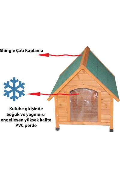 Tommy Ahşap Köpek Kulübesi 78x88x80 cm Medium
