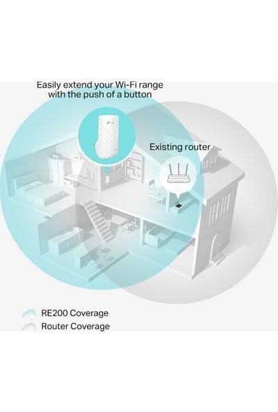 TP-Link RE200 750Mbps Kablosuz AC Dual Band 1RJ45 portlu Kolay Kurulumlu Access Point & Evrensel Menzil Genişletici
