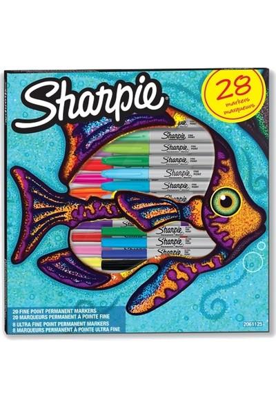 Sharpie Fine + Ultra Fine Marker Kalem Seti 28 Kalem