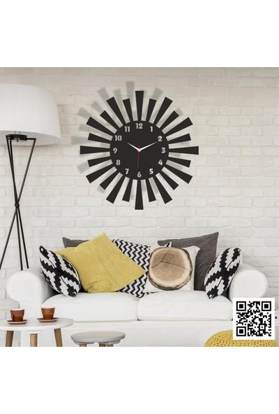 Trend Box Modern Dekoratif Ahşap Duvar Saati -110