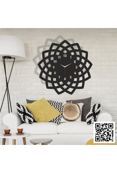 Trend Box Modern Dekoratif Ahşap Duvar Saati -115
