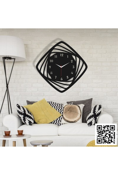 Trend Box Modern Dekoratif Ahşap Duvar Saati -114