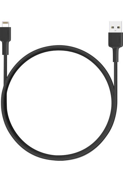 Aukey CB-BAL4 Premium Apple Lightning 2 Mt Örgülü Şarj/Data Kablosu MFI