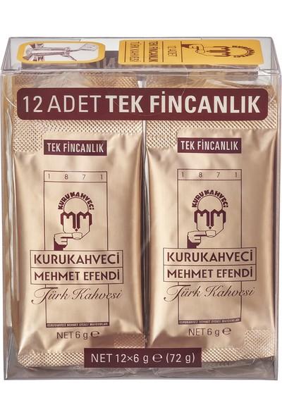Mehmet Efendi Tek İçimlik Türk Kahvesi Pvc 12*6 Gr