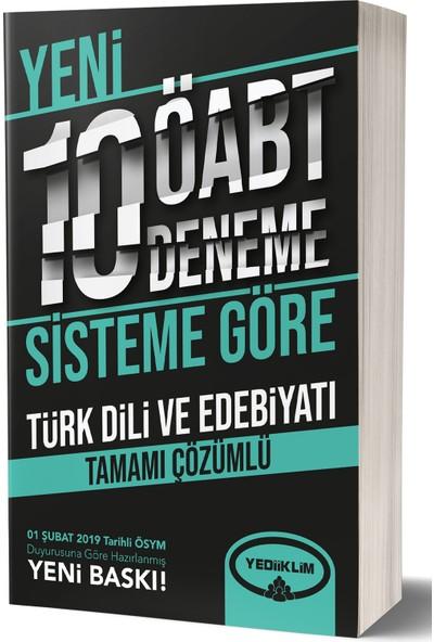 Yediiklim Yayınları ÖABT Türkdili Ve Edebiyatı Tamamı Çözümlü 10 Deneme (75 Soruluk Yeni Sisteme Göre)