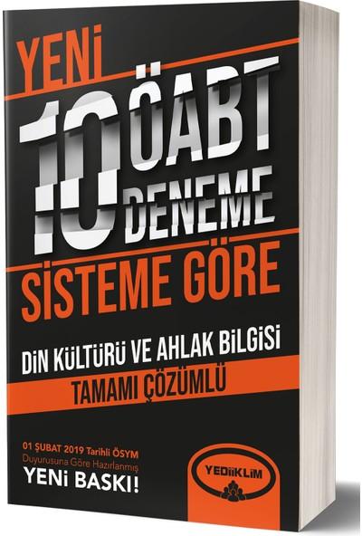 Yediiklim Yayınları ÖABT Din Kültürü Ve Ahlak Bilgisi Tamamı Çözümlü 10 Deneme (75 Soruluk Yeni Sisteme Göre)