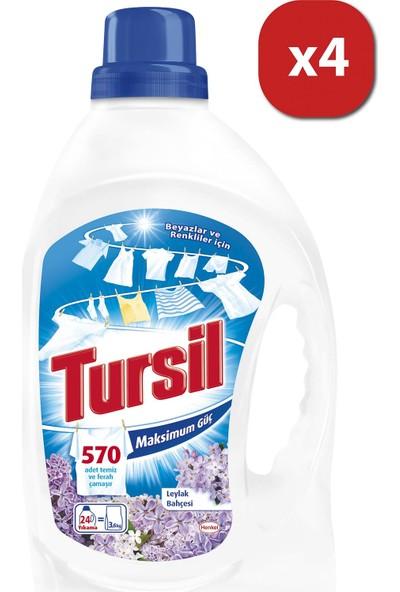 Tursil Çamaşır Deterjanı Jel Leylak Bahçesi 24W lt x6 x Mix 4 lü