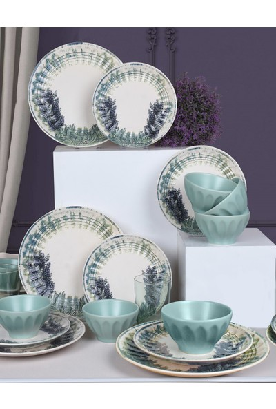 Keramika Lavanta Yemek Takımı 18 Parça 6 Kişilik 18450