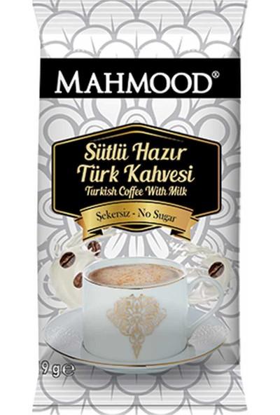 Mahmood Coffee Hazır Türk Kahvesi Sütlü Şekersiz 19 gr 12'li