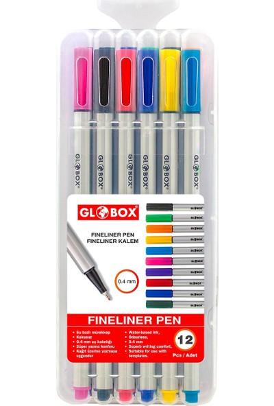 Globox Fineliner Pen Keçeli Kalem 12'li