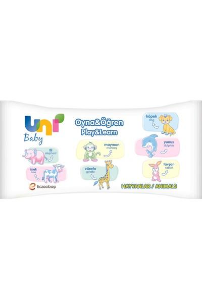 Uni Baby Oyna Öğren Islak Mendil 12'li Fırsat Paketİ 52x12 ( 624 Yaprak )