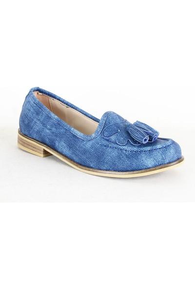 Armoni 345 Bayan Babet Ayakkabı Mavi