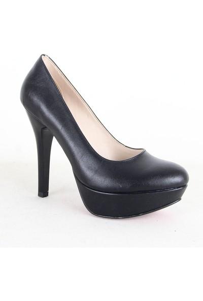 Çnr Dus 502 Platform Topuk Bayan Ayakkabı Siyah