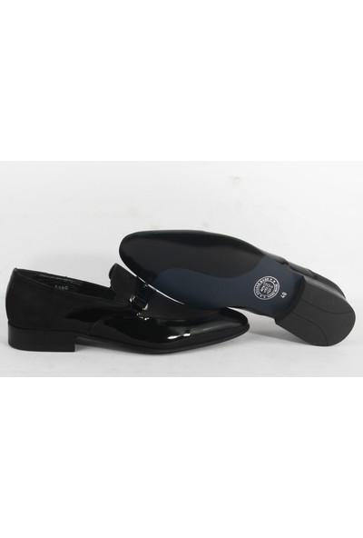 King West 104 Klasik Erkek Rugan Ayakkabı Siyah