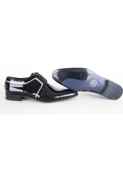 King West 105 Klasik Erkek Rugan Ayakkabı Siyah