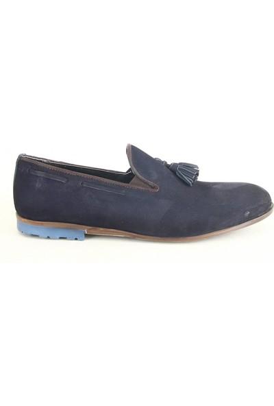 Rego 1233 Süet Erkek Günlük Ayakkabı Lacivert
