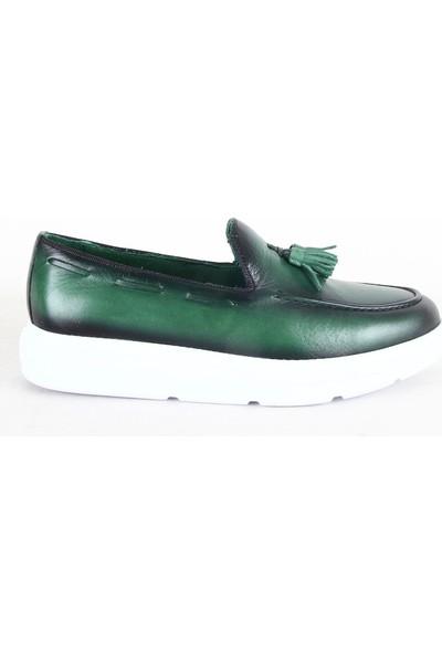 Rego 1231 Erkek Casual Deri Ayakkabı Yeşil