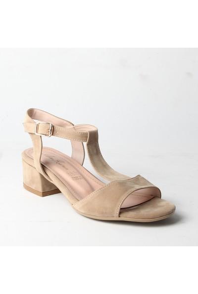 Karmen 320 Bayan Topuklu Ayakkabı Bej