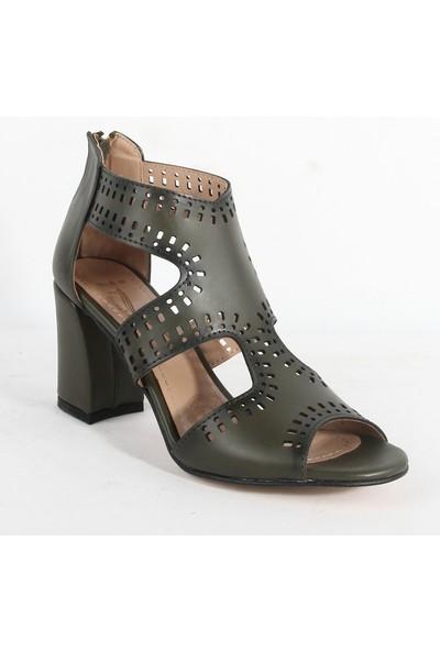 Yeni Sezon 100 Bayan Topuklu Ayakkabı Yeşil