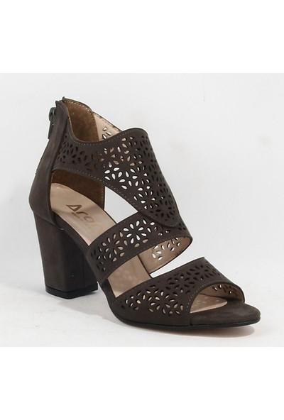 Yeni Sezon Bayan Topuklu Ayakkabı Haki