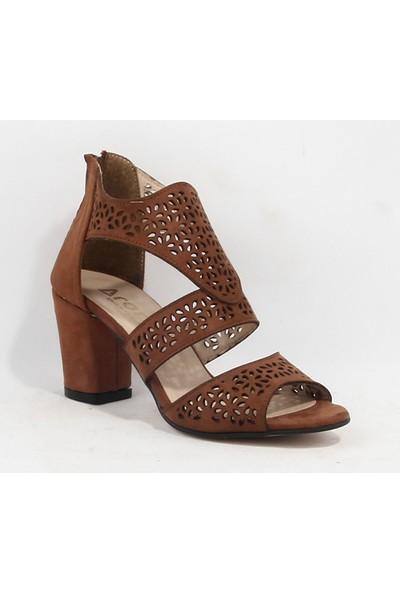 Yeni Sezon Bayan Topuklu Ayakkabı Taba