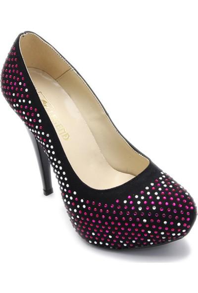 Ayakkabı Platform Pempe Taşlı Siyah
