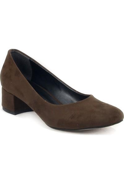 Esstii 065 Bayan Kısa Topuk Ayakkabı Yeşil