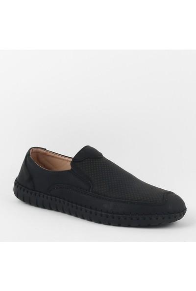 Zeki Narin 245-01 Erkek Deri Günlük Ayakkabı Siyah