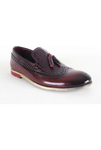 Zeki Narin 2118 Erkek Rugan Ayakkabı Bordo