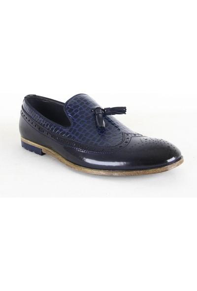 Zeki Narin 2118 Erkek Rugan Ayakkabı Lacivert