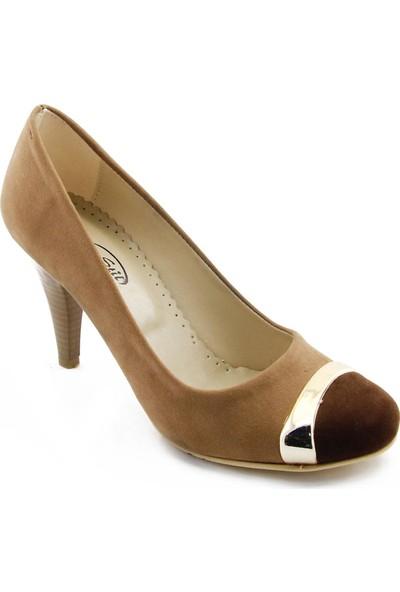 Yeystore Süet Kemerli Kahverengi Ayakkabı