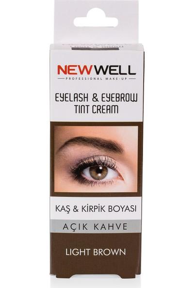 New Well Kaş&Kirpik Boyası Açık Kahve