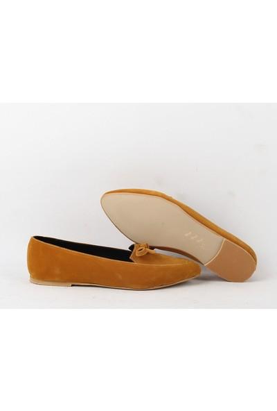 Chica Secreto 054 Bayan Süet Babet Ayakkabı Hardal