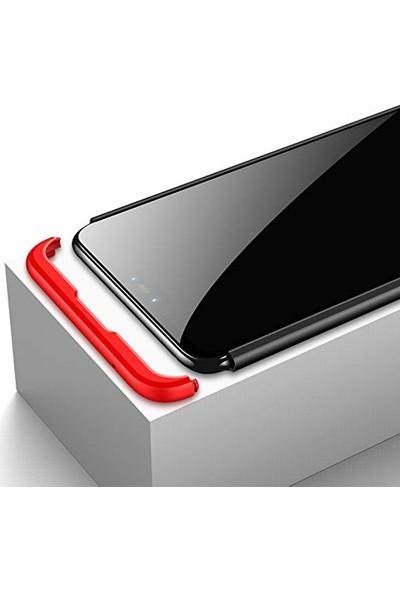 Case 4U Xiaomi Mi 8 Lite Kılıf 3 parça 360 Ays Kapak Rose Gold