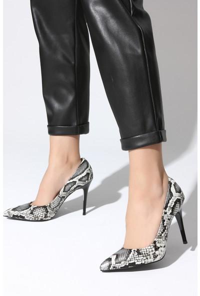 Rovigo Plus Kadın Siyah Beyaz Ayakkabı