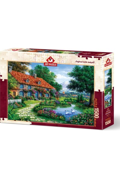 Art Puzzle Kuğulu Bahçe 1500 Parça Puzzle