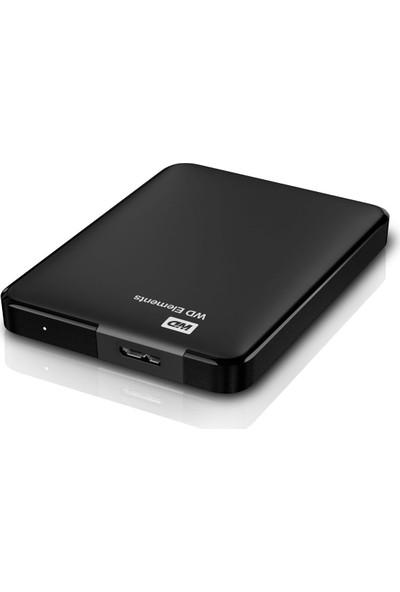 """WD Elements 1TB 2.5"""" USB 3.0 Taşınabilir Disk (WDBUZG0010BBK-WESN) + Addison HDD-136 Kılıf"""