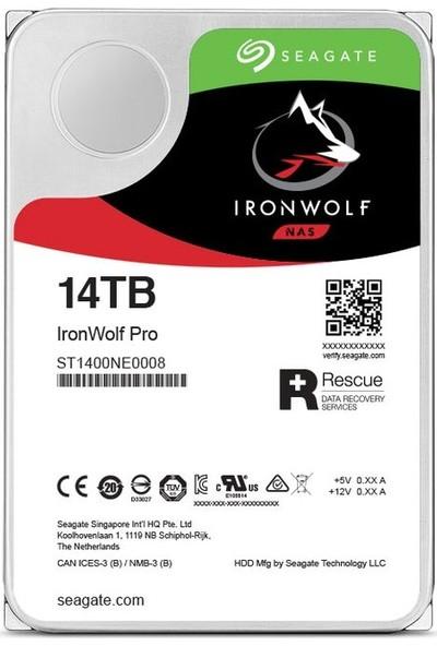 "Seagate IronWolf Pro 14TB 7200RPM 256MB Cache SATA 6.0GB/s 3.5"" Internal Hard Drive ST14000NE0008"