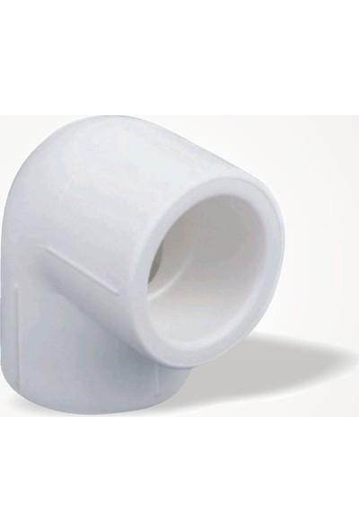 Hakan Plastik Dirsek Beyaz 50 Mm Dirsek 90 Derece