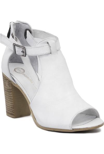 Mammamia D19Ya 3590 Beyaz Terlik Sandalet