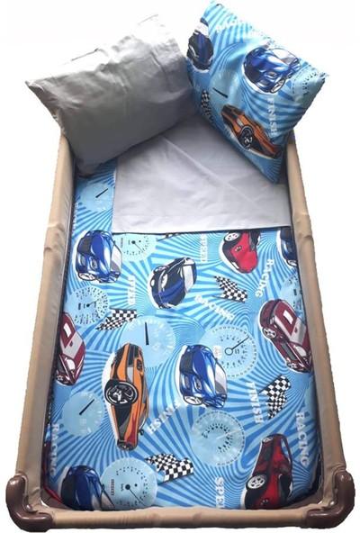BabyClap Araba Desenli Bebek Nevresim Takımı
