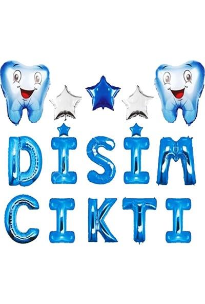 Partifabrik Dişim Çıktı Folyo Balon Parti Seti Mavi