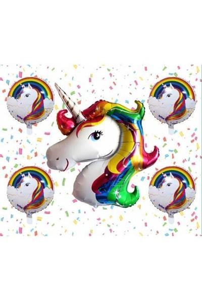 Partifabrik Unicorn Folyo Balon Seti 5'li