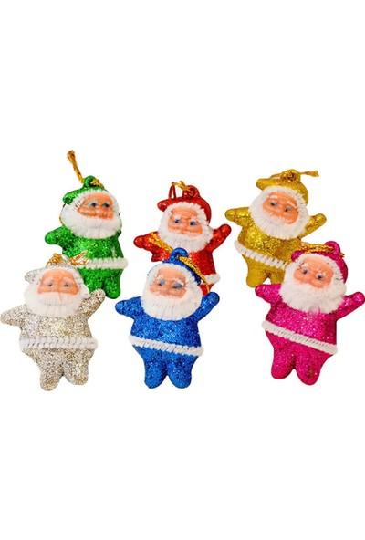 Partifabrik Yılbaşı Ağaç Süsü Renkli Noel Baba