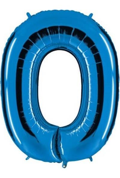 Partifabrik 0 Mavi Rakam Folyo Balon 100 cm